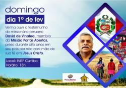 IMEF Curitiba recebe missionário David de Vinatea
