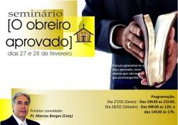 """Convite Seminário """"O Obreiro Aprovado"""""""