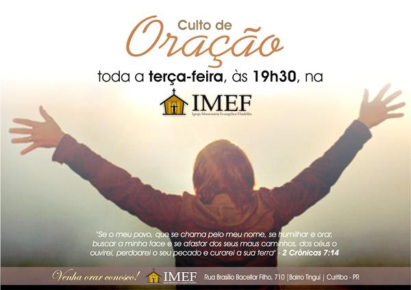 Convite Especial Culto De Oração Testemunho Imef