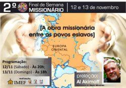 IMEF realiza 2º Final de Semana Missionário