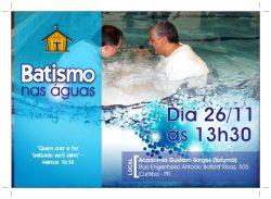"IMEF realiza ""batismo nas águas"" neste sábado (26)"