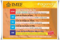 Agenda IMEF Curitiba para o período de férias