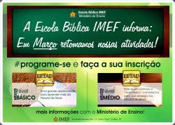 Escola Bíblica IMEF retorna em março com cursos da EETAD