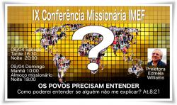 IMEF Curitiba promove IX Conferência Missionária