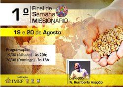 IMEF prepara 1º Final de Semana Missionário de 2017