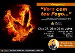 """IMEF vai realizar """"1º Congresso Vem Com Teu Fogo"""""""