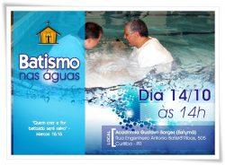 """IMEF realiza """"batismo nas águas"""" no dia 14 de Outubro"""