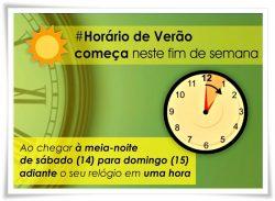 Horário de Verão começa neste domingo (15)
