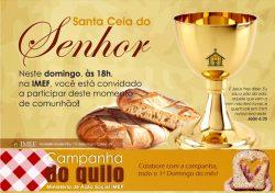 """IMEF Curitiba celebra """"Santa Ceia do Senhor"""" neste domingo (04)"""