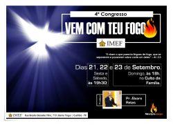 """IMEF realiza """"4º Congresso Vem Com Teu Fogo"""""""
