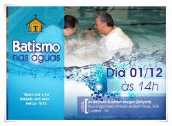 "IMEF realiza ""batismo nas águas"" neste sábado (01)"
