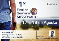 IMEF Curitiba realiza Final de Semana Missionário